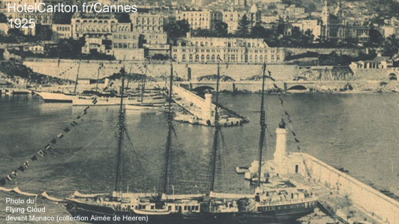 Le Duc de Westminster et Coco Chanel sur le Flying Cloud dans la Baie de Cannes